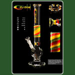 Crystal Glasbong 18.8 - Bouncer / Rasta H:45cm D:50mm WS:5mm