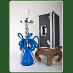 Alu Shisha > 3 Schlauch H: 51cm King Miss Nile in Box - Silver S
