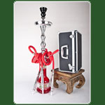 Alu Shisha > 3 Schlauch H: 79cm King Princess in Box - Silver Ru